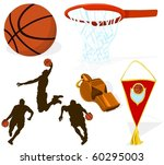 set of a basketball accessories | Shutterstock .eps vector #60295003