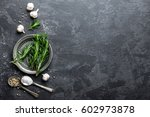rosemary  garlic  salt and... | Shutterstock . vector #602973878