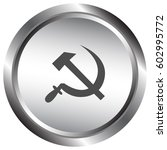 hammer and sickle isolated... | Shutterstock .eps vector #602995772