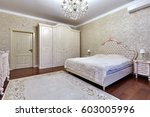 bedroom with a beautiful... | Shutterstock . vector #603005996