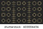 huge rosette wicker border... | Shutterstock .eps vector #603006656