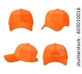 baseball caps in front side and ... | Shutterstock .eps vector #603010016