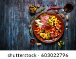 italian food cooking... | Shutterstock . vector #603022796