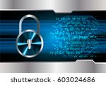 safety concept  closed padlock... | Shutterstock .eps vector #603024686