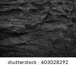 close up rocks. dark stone... | Shutterstock . vector #603028292