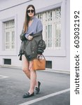 perfect spring fashion outfit.... | Shutterstock . vector #603032192