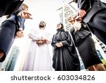 arabic and western business... | Shutterstock . vector #603034826