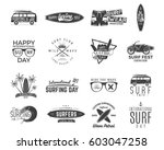 vintage surfing graphics and... | Shutterstock .eps vector #603047258