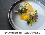 delicious cooked rabbit ...   Shutterstock . vector #603049652