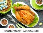 Roast Chicken On Festive Easte...