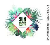 bright vector floral design...   Shutterstock .eps vector #603055775