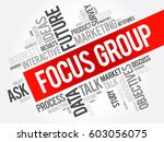 focus group word cloud collage  ... | Shutterstock .eps vector #603056075