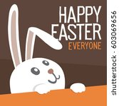 happy easter everyone. easter... | Shutterstock .eps vector #603069656