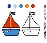 coloring book for children ... | Shutterstock .eps vector #603071606