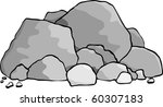 a pile of boulders and rocks. | Shutterstock .eps vector #60307183