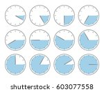 clocks with various times | Shutterstock .eps vector #603077558