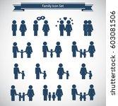 family icons set  | Shutterstock .eps vector #603081506