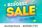 big sale banner. promo... | Shutterstock .eps vector #603081755