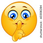 emoticon making silence sign | Shutterstock .eps vector #60308284