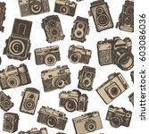 hand drawing retro photo... | Shutterstock .eps vector #603086036