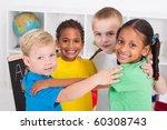 Group Of Happy Preschool Kids...