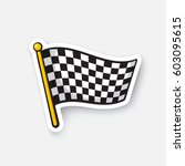 vector illustration. chequered... | Shutterstock .eps vector #603095615