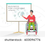 concept of man with... | Shutterstock .eps vector #603096776