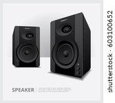 speakers isolated vector... | Shutterstock .eps vector #603100652