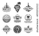 set of vector black and white...   Shutterstock .eps vector #603101312