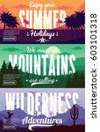 desert  mountains and summer... | Shutterstock .eps vector #603101318