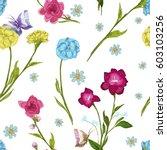 vintage seamless pattern ... | Shutterstock .eps vector #603103256