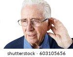 studio shot of  senior man...   Shutterstock . vector #603105656