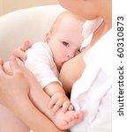 mother breast feeding her infant | Shutterstock . vector #60310873