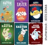 vintage easter egg poster... | Shutterstock .eps vector #603110666