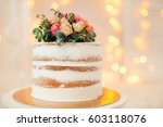decorated by flowers white... | Shutterstock . vector #603118076