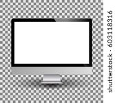 personal computer monitor... | Shutterstock .eps vector #603118316