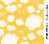 popcorn pattern. bright... | Shutterstock .eps vector #603118562