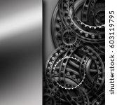 gear in a metal frame.... | Shutterstock . vector #603119795