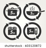vector meal preparation icons... | Shutterstock .eps vector #603120872