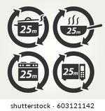vector meal preparation icons... | Shutterstock .eps vector #603121142