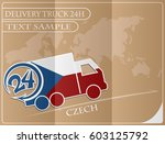 delivery truck 24h concept made ... | Shutterstock .eps vector #603125792