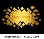 gold game over geometric... | Shutterstock . vector #603129395