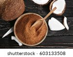 Bowl And Scoop Of Brown Sugar...