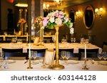beautiful wedding accessories ... | Shutterstock . vector #603144128