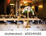 beautiful wedding accessories ... | Shutterstock . vector #603144182