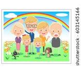 family memorial photo three... | Shutterstock .eps vector #603145166