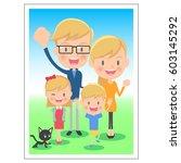family memorial photo | Shutterstock .eps vector #603145292