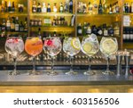 several colorful cocktails in...   Shutterstock . vector #603156506