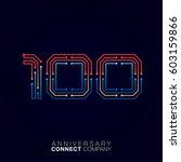 100 anniversary  letter one...   Shutterstock .eps vector #603159866