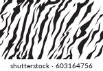 stripe animal jungle bengal... | Shutterstock .eps vector #603164756